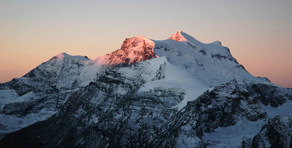 Grand Combin at sunset